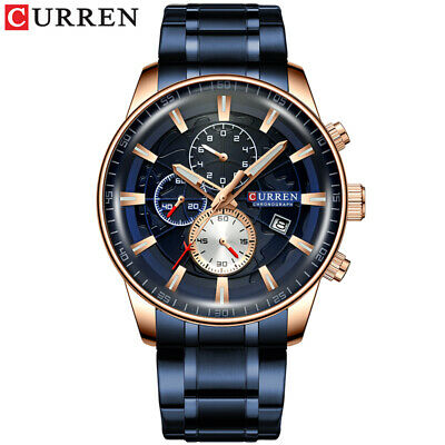 $ CDN33.36 • Buy Men's Luxury Analog Quartz Watch Waterproof Chronograph Business Wristwatch