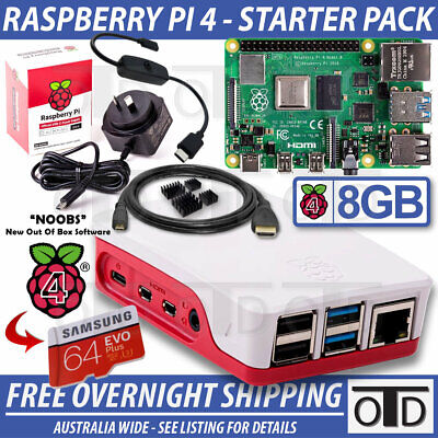 AU129.95 • Buy Raspberry Pi 4 Model B Starter Pack - FULLY ASSMEBLED - PLUG AND PLAY