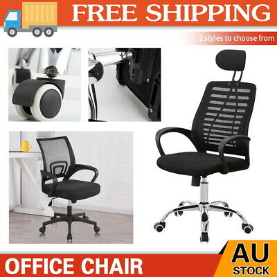 AU61 • Buy Ergonomic Office Chair Gaming Computer Mesh Chairs Executive Mid Back Black  AU
