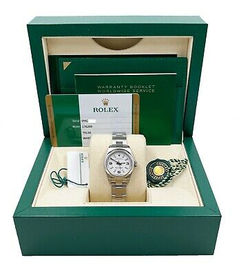 $ CDN5438.73 • Buy Rolex 176200 Ladies Oyster Perpetual White Dial Stainless Steel 2019 Box Papers