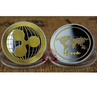 AU3.99 • Buy Gold Silver Plate Ripple Coin Commemorative Round Collectors Coin XRP Coin