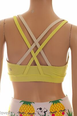 $ CDN31.23 • Buy LULULEMON Yellow Shelf Bra Top 4