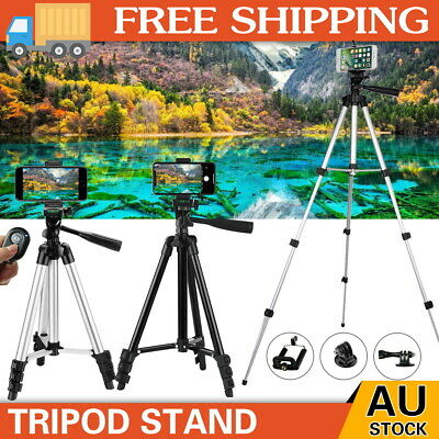 AU15.98 • Buy Professional Camera Tripod Stand Mount Remote + Phone Holder For IPhone Samsung
