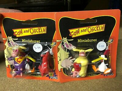£19.99 • Buy CARTOON NETWORK Boxed Pair COW AND CHICKEN Miniatures Figures LOGISTIX 1999
