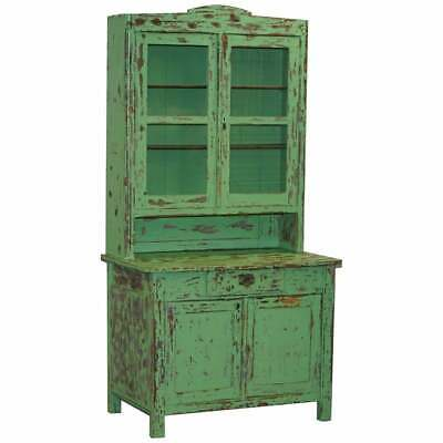 AU4987.06 • Buy Hand Painted Victorian Distressed Green Dresser Bookcase Or Kitchen Cupboard