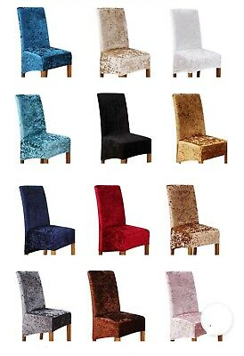 £6.99 • Buy Crushed Velvet Dining Chair Covers Stretchable Christmas Slipcover Decor