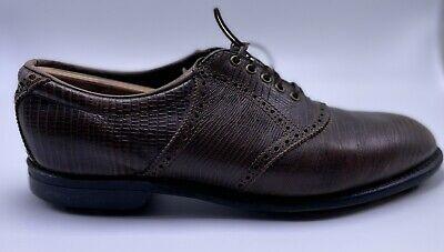 $39.99 • Buy Vintage FootJoy Golf Shoes Brown Lizard Leather Made In The USA Size 8.5 C