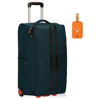 View Details 64L Anti Theft Rolling Flight Approved Travel Soft Suitcases Carry On Luggage  • 64.39$