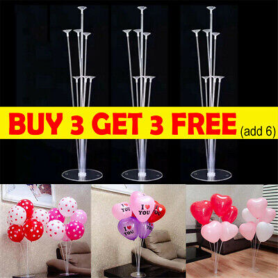 AU8.88 • Buy 7 In 1 Plastic Balloon Accessory Base Table Aupport Holder Cup Stick Stand C2
