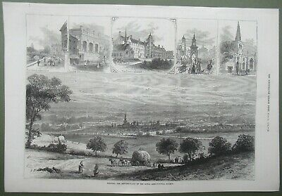 £12.50 • Buy Bedford Meeting Place Of Royal Agricultural Society Antique Print 1874