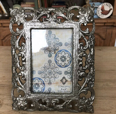 Concepts In Time New York Cast Iron Picture Frame Baroque Gothic Vintage 90's • 24.99£