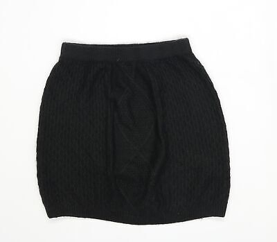 £5 • Buy F&F Womens Black  Knit Bandage Skirt Size 12  - Cable Knit
