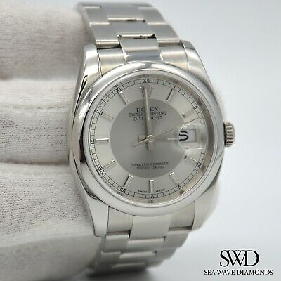 $ CDN8714.60 • Buy Rolex Datejust 116200 Silver Tuxedo Dial 36mm Oyster Men's Watch Box And Papers