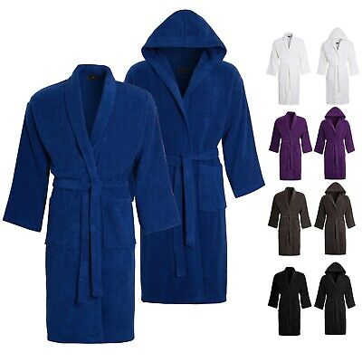 £9.99 • Buy Unisex Luxury Egyptian Cotton Terry Towelling Bath Robe Dressing Gown Towel Soft