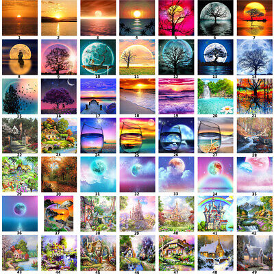 AU11.76 • Buy 5D DIY Full Drill Diamond Painting Kits Embroidery Cross Stitch Home Decor Arts