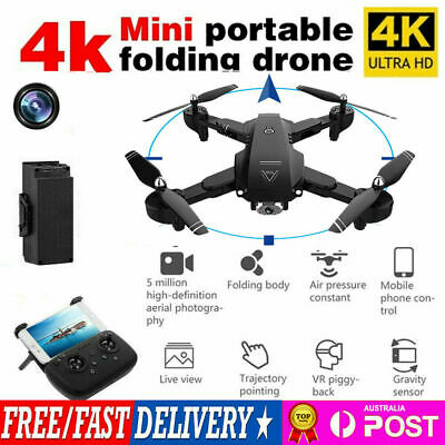 AU16.19 • Buy 4K RC Drone X Pro With HD Dual Camera 1080P Wifi FPV Selfie Foldable Quadcopter