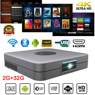 AU289.99 • Buy 8000Lumens Wifi 4K 3D HD 1080P Home Theater DLP Projector Android 7.0 HDMI USB