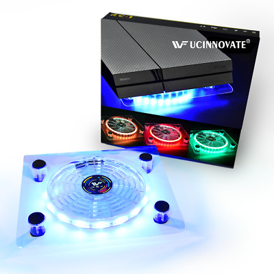 AU24.99 • Buy USB RGB LED Cooler Cooling Fan Pad Mini Controller Stand For PS4 Pro XBOX OneX