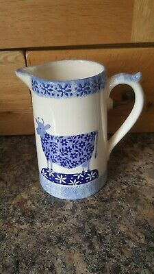 £16 • Buy Moorland Pottery Jug With Vintage Cow Pictures Blue And White