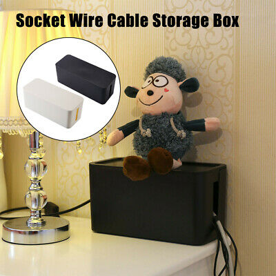 £8.54 • Buy Cable Storage Box Socket Safety Tidy Organizer Wire Management Container