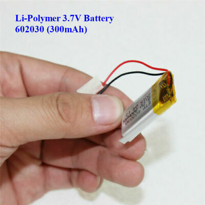 £5.39 • Buy 3.7V 300mAh Lithium  Polymer Battery 602030 For Dash Cam. Watch, PSP LED Lamp RC
