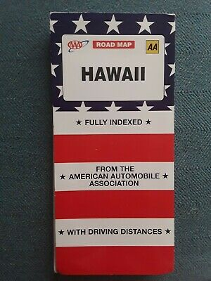 £5 • Buy AAA Hawaii Road Map With Driving Distances, 2 Sided