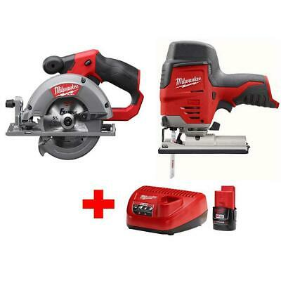 £226.13 • Buy  M12 12-Volt Lithium-Ion Cordless Jig Saw And 5-3/8 In. Circular Saw Combo Kit