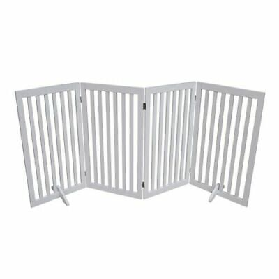 £75.13 • Buy Four Panel Freestanding Pet Dog Cat Baby Safety Gate, Secured Stairways Barrier