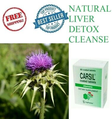 £9.99 • Buy CARSIL Silymarin 80 Tabs Natural Liver Overdrinking Detox Cleanse And Protection