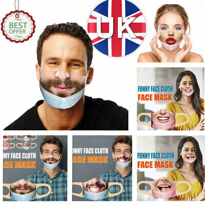 PM2.5 Mask(less)Washable Mouth Cover For Men/Women Bandit Prank Funny Face Mask  • 4.39£