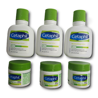 £14.15 • Buy Cetaphil 6 Pack Face And Body Moisturizing Lotion Skin Cleanser And Cream Set