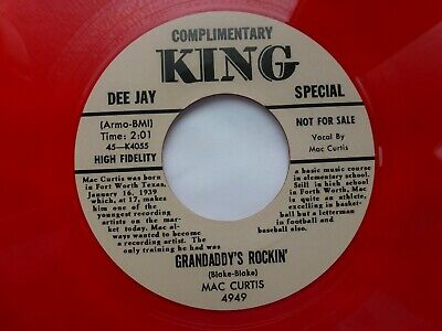 Mac Curtis 45 'grandaddy's Rockin' Usa King Monster 1956 Texas Rockabilly Repro • 10£