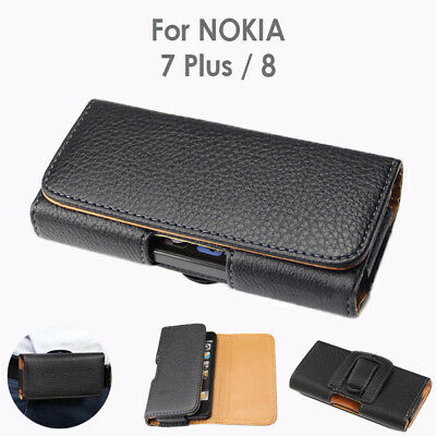 AU9.99 • Buy Nokia 8 Nokia 7 Plus PU Leather Pouch Belt Clip Case Cover For Nokia
