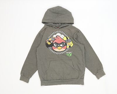 £5 • Buy Angry Birds Boys Grey  Jersey Pullover Hoodie Size 8-9 Years  - Angry Birds Go!