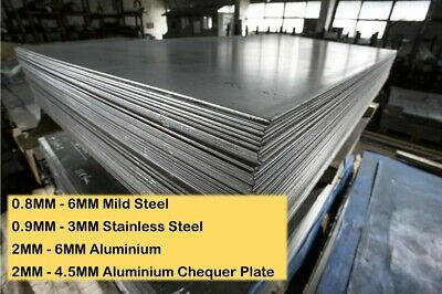 £21.99 • Buy Cut To Size Steel Aluminium Stainless Sheet Plate 0.8MM 1MM 2MM 3MM 4MM 5MM 6MM