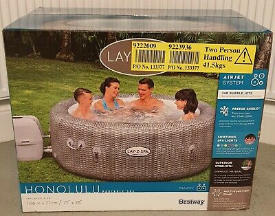 Lay-Z-Spa Honolulu Jacuzzi⚡LED LIGHTS⚡6 Person Hot Tub - FAST FREE DELIVERY 🚚 • 744£