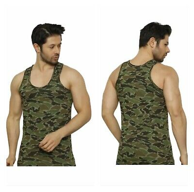 £3.95 • Buy Men's Sleeveless Vest Camouflage Army Muscle Gym Athletic Sports Cotton Tank Top