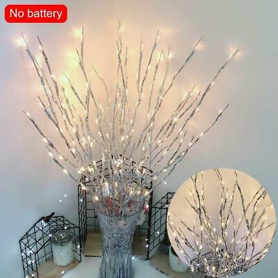20 LED Branch Twig Lights Light Up Willow Tree Branches Christmas Decor 77cm • 3.15£