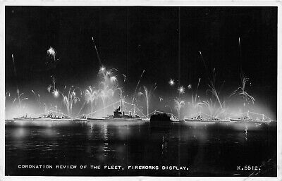 £2.97 • Buy Postcard  Ships  Coronation Review Of The Fleet Fireworks Display   Rp