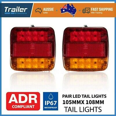 AU22.99 • Buy 2Pack Submersible Trailer Tail Lights 26LED Stop Tail Lights Kit Boat Truck Lamp