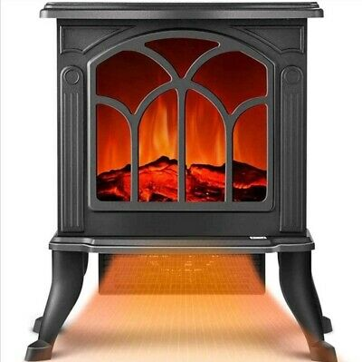 Electric Heater Fireplace With Dancing Flame Burning Logs 35.5cm X 22cm X 46cm • 43.90£