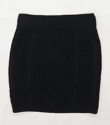 £5 • Buy Atmosphere Womens Black Striped Knit Mini Skirt Size 8  - Cable Knit Design