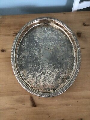 £20 • Buy Antique/Vintage Tray, Silver-plated & Brass-plated Cavalier Tablewear Of England