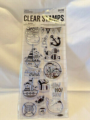 £6.38 • Buy Stampabilities Sail Away-Set 15 Clear Stamps-Whale-Sailboat-Anchor-Fish-Lot-New