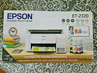 View Details Brand New WHITE Epson ECOTANK ET-2720 WiFi All-In-One Color Printer SAME DAY S&H • 284.90$