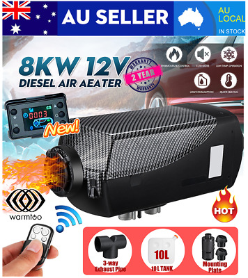 AU177.99 • Buy Warmtoo 5KW 8KW 12V Diesel Air Heater 10L Tank LCD Switch Remote Thermostat RV