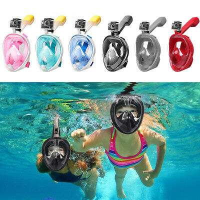 AU26.79 • Buy Anti Fog Full Face Snorkel Mask Swimming Dive Scuba Goggles Adult Kids For GoPro