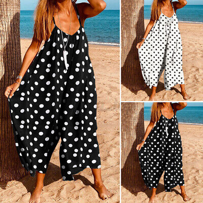£9.76 • Buy Womens Dungarees Oversized Jumpsuits Summer Beach Playsuits Vintage Baggy Romper
