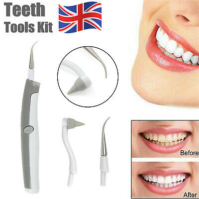 £4.69 • Buy Electric Dental Tooth Stain Polisher Teeth Whitener Plaque Eraser Remover UK