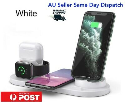 AU25.99 • Buy 6 In 1 Qi Wireless Charger Charging Dock Stand Station For Apple IPhone Watch
